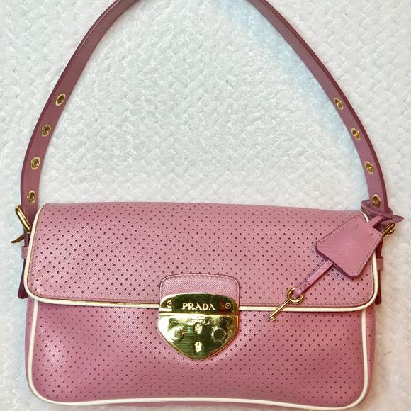 2b72f04615a4af Prada Bags | Perforated Shoulder Bag Lock And Keys | Poshmark